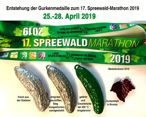 So entsteht die Medaille zum Spreewaldmarathon.