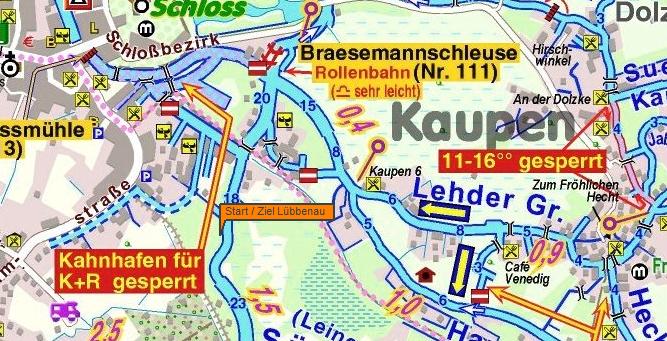 Karte Spreewald Lubbenau.Spreewald Marathon